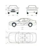 Rover 600 blueprint