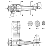 SPAD S.XIII blueprint
