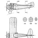 SPAD S.XIII blueprint