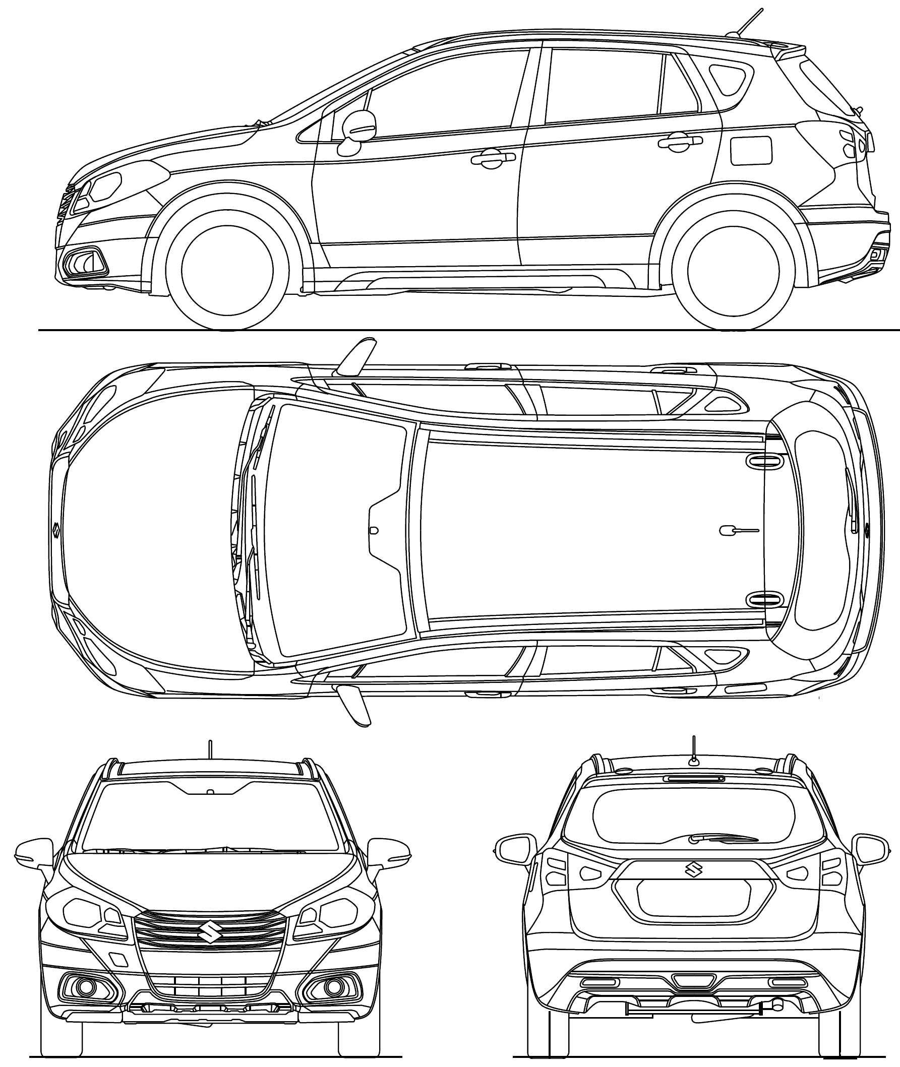 Suzuki SX4 S-Cross blueprint