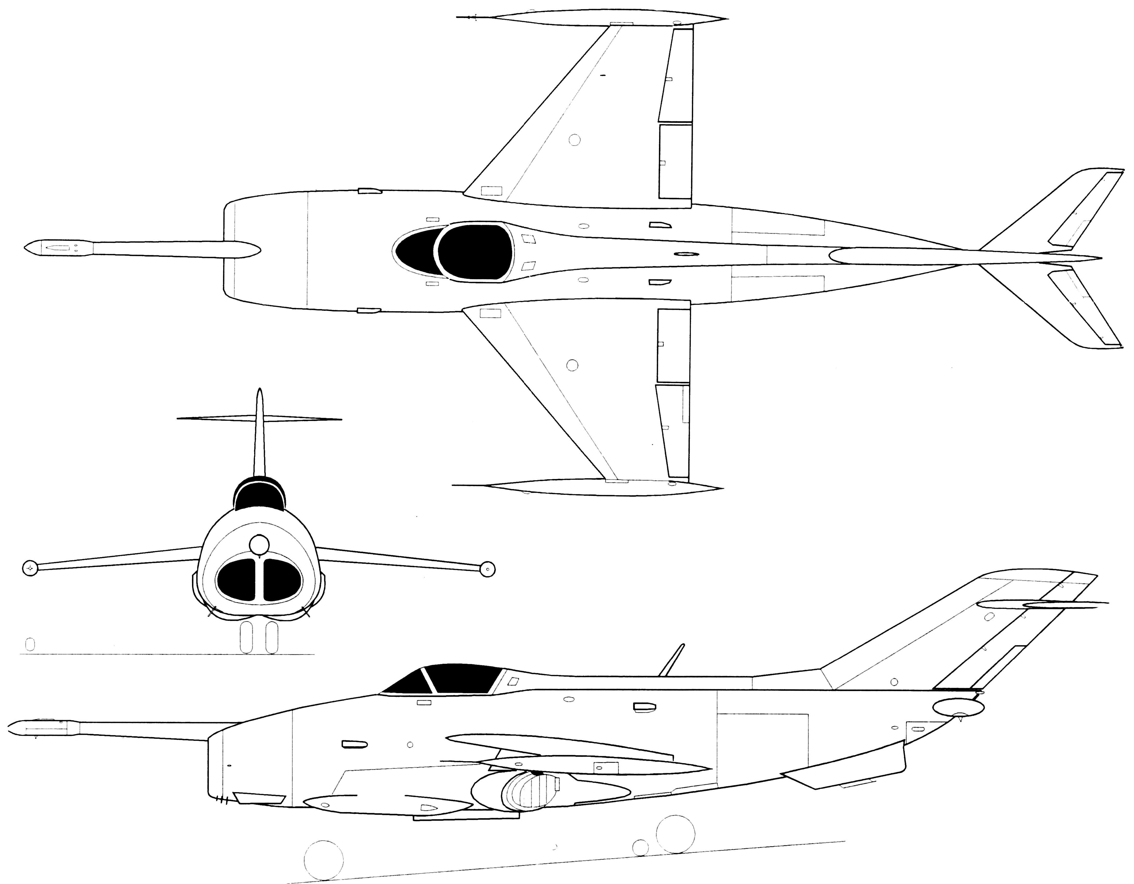 Yak-36 blueprint
