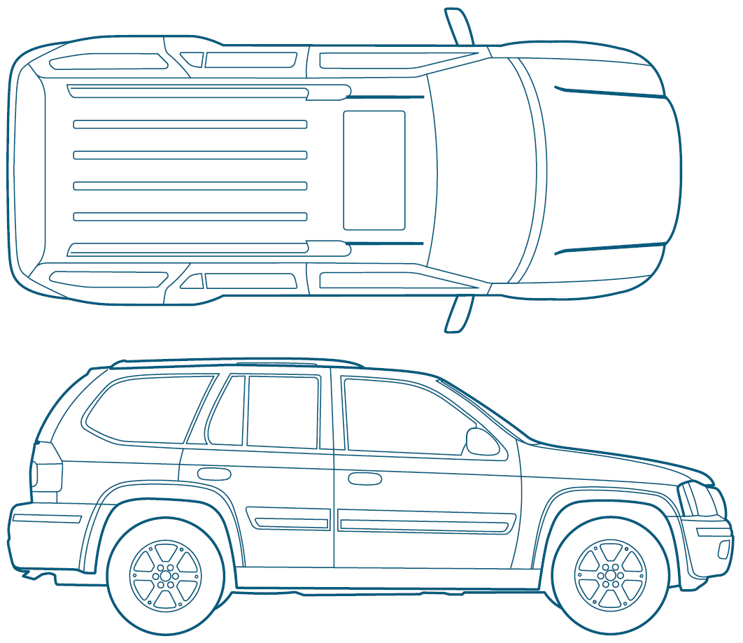 Isuzu Ascender blueprint