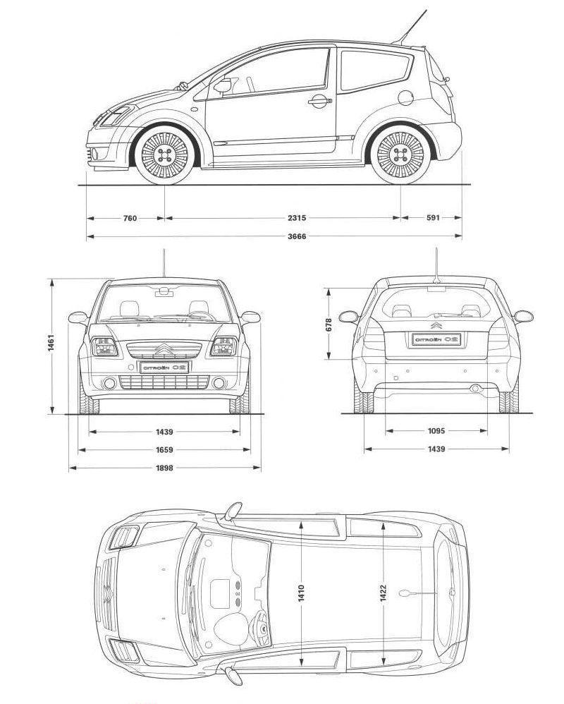 Citroën C2 3d model