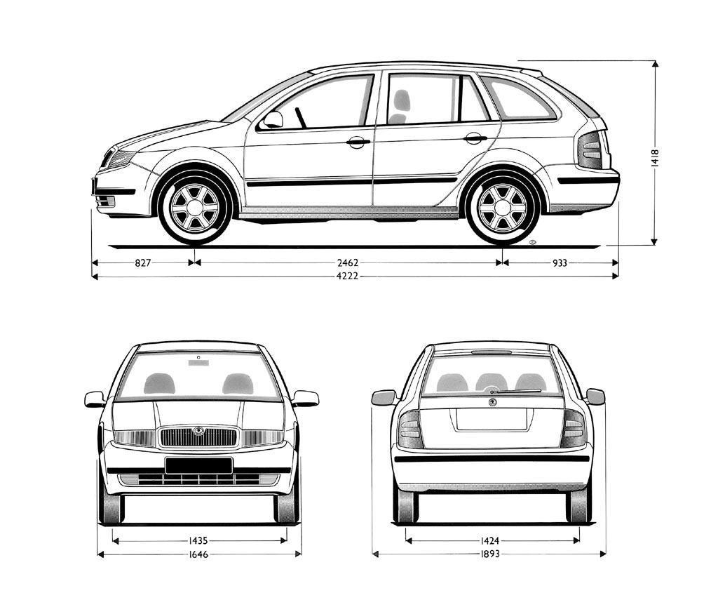 Skoda Fabia blueprint