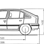 Opel Kadett E blueprint
