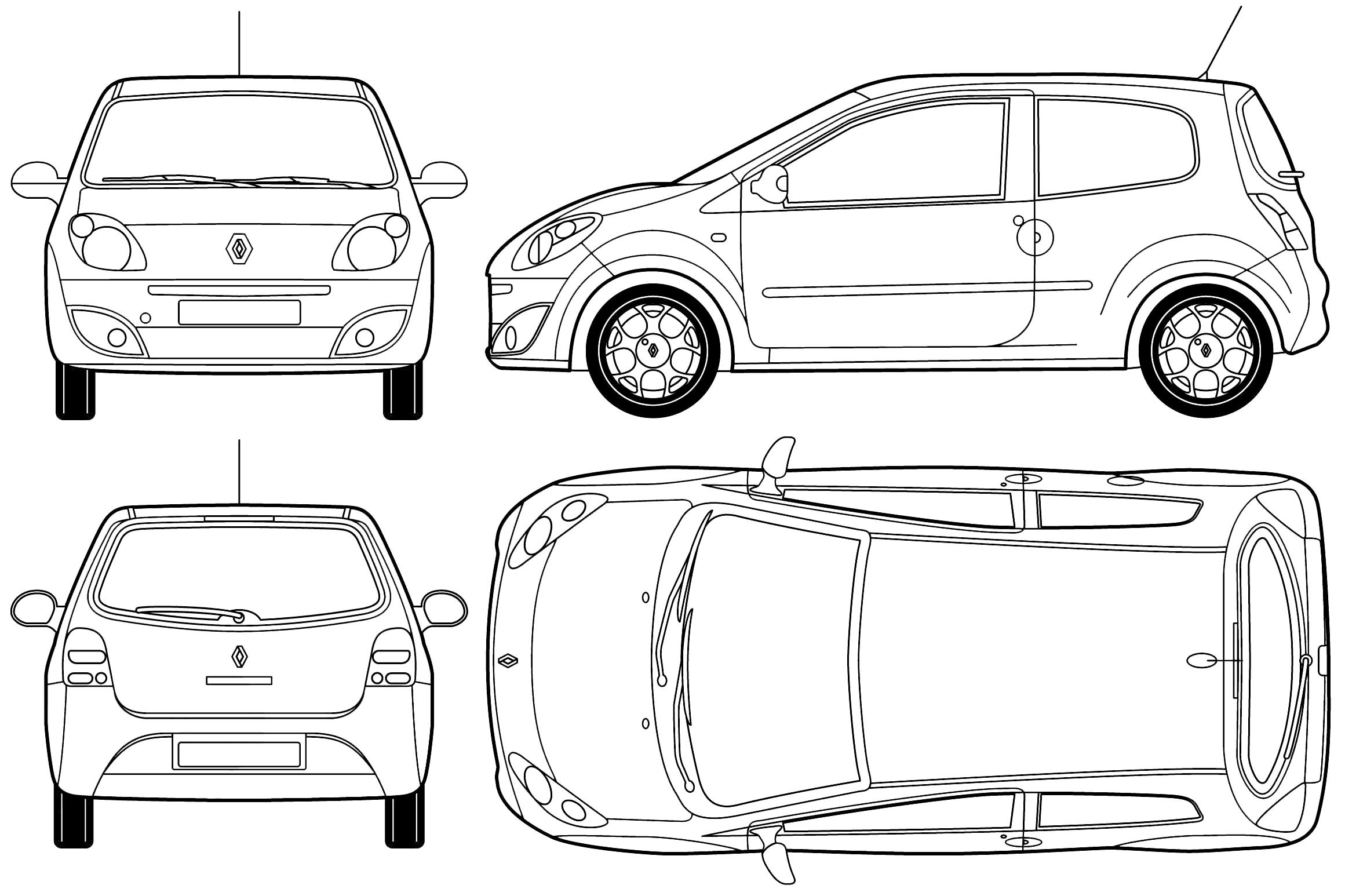 Renault Twingo blueprint