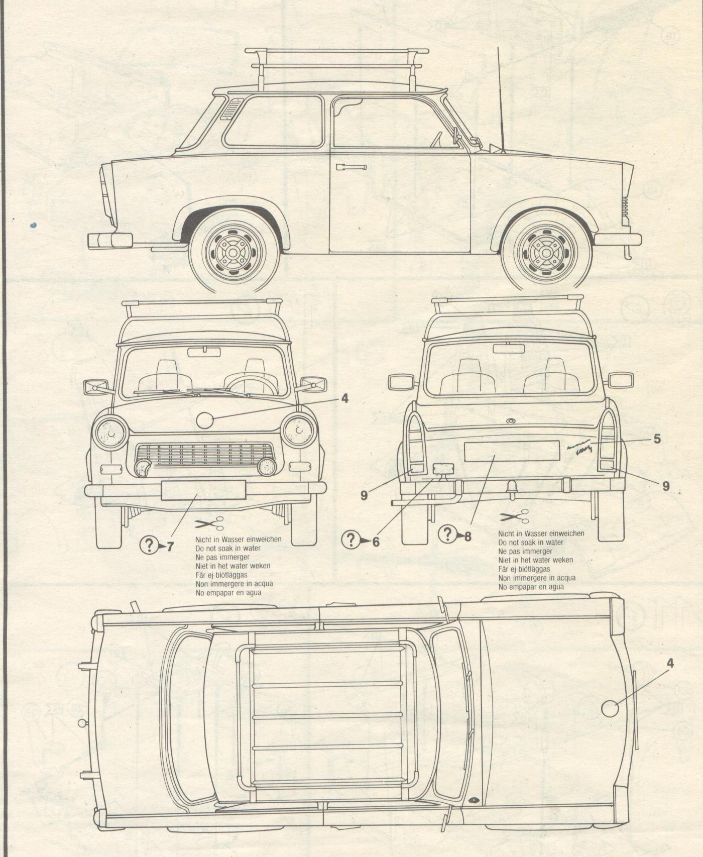 Trabant 601 Blueprint Download Free Blueprint For 3d