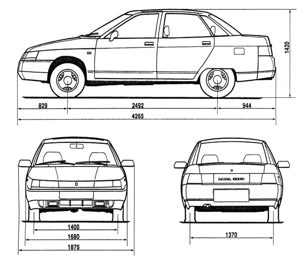 VAZ 21010 blueprint