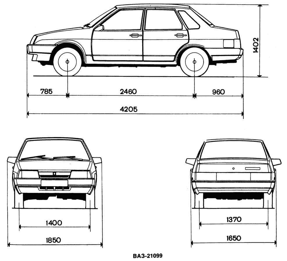 VAZ-21099 blueprint
