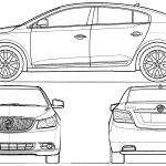 Buick Lacrosse blueprint