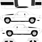 Chevrolet Camaro Z-28 blueprint