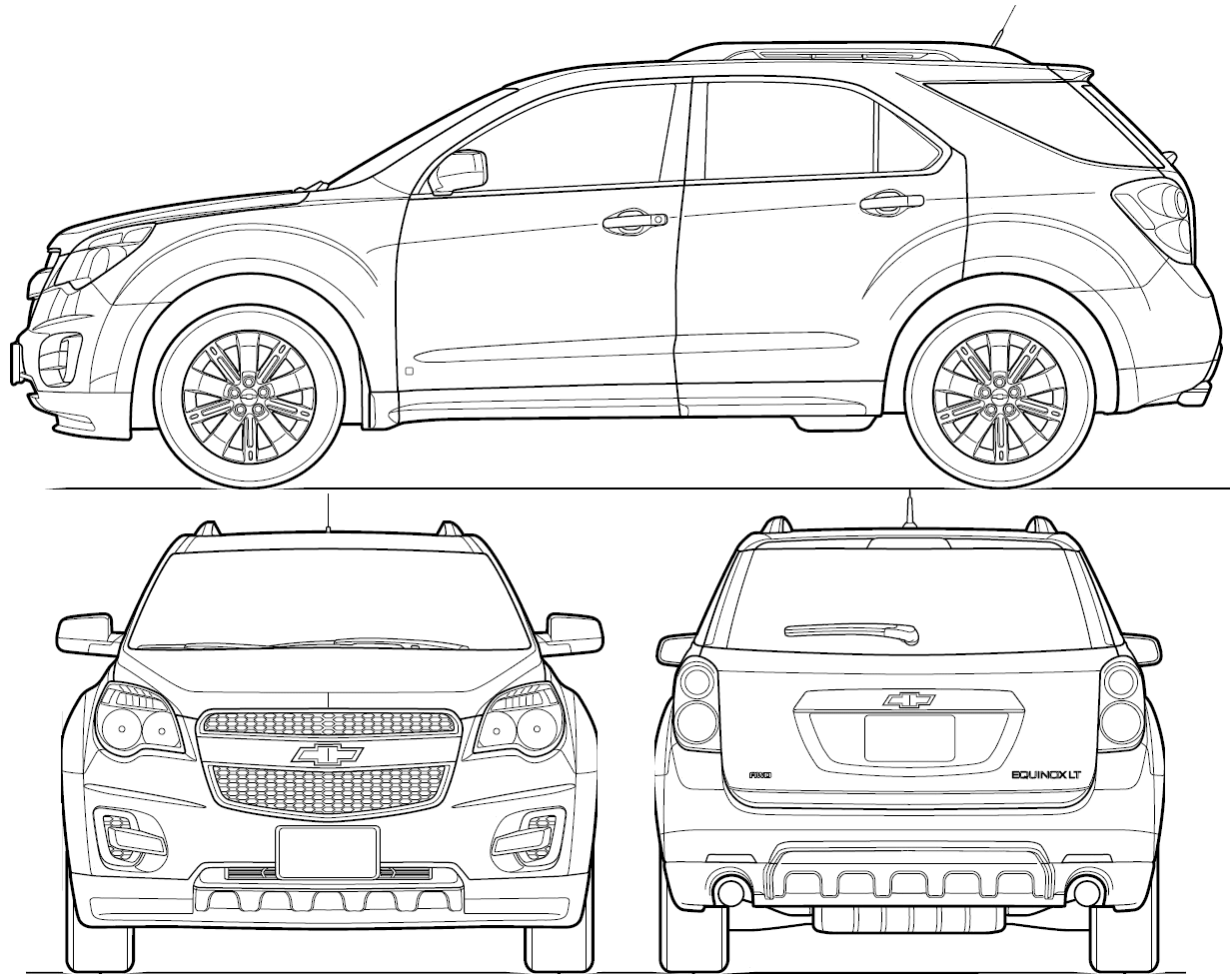 Chevrolet Equinox blueprint