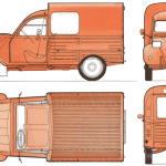 Citroen 2CV blueprint