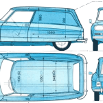 Citroen Ami blueprint