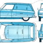 Citroen Ami blueprint