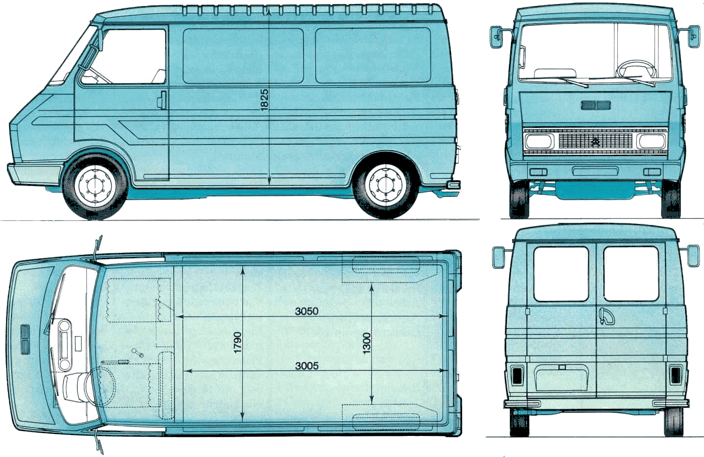Citroen C35 blueprint