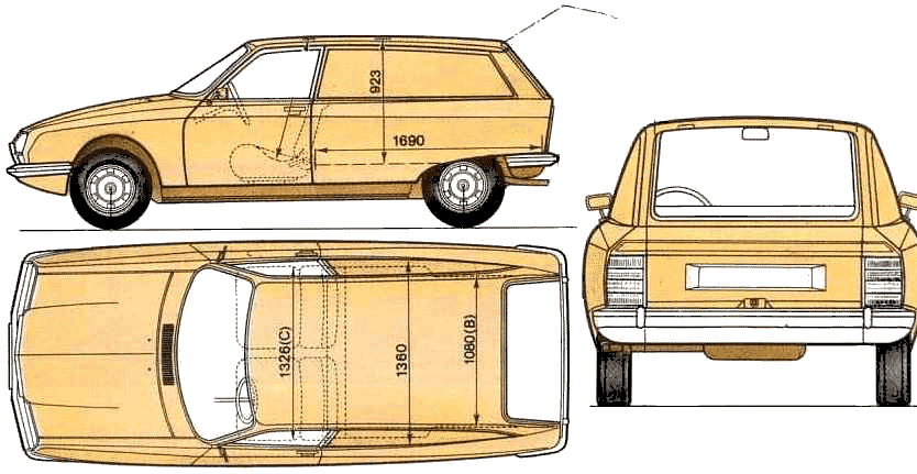 Citroen GS blueprint