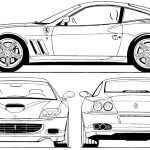 Ferrari 575M blueprint