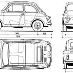 Fiat 500 blueprint