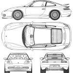 Porsche 911 GT3 blueprint