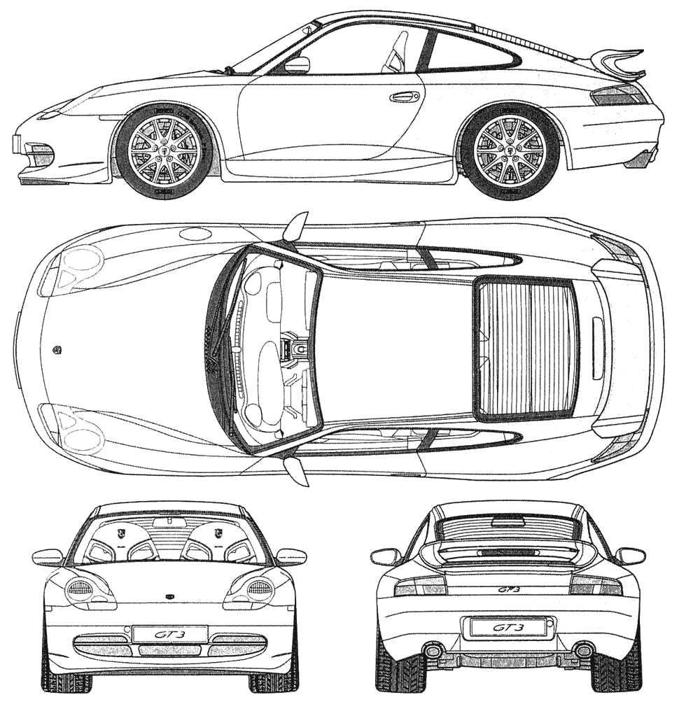 Porsche 911 Gt3 997 Blueprint Download Free Blueprint