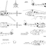 Aérospatiale Gazelle blueprint