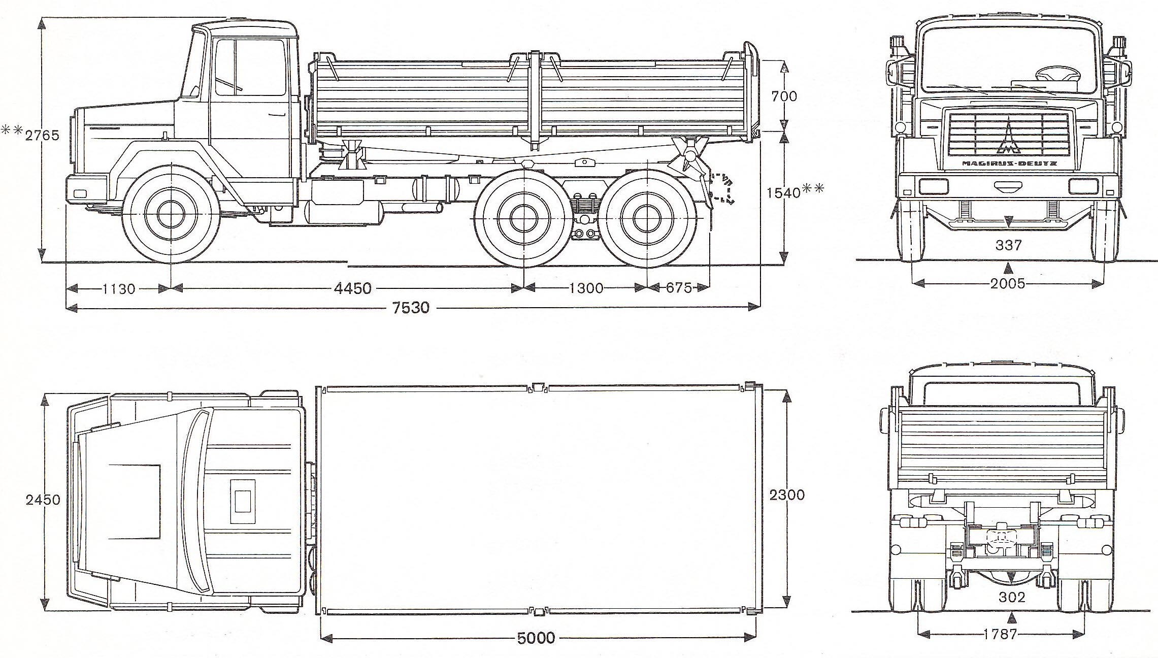 Magirus-Deutz 232 blueprint