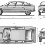 Citroen CX blueprint