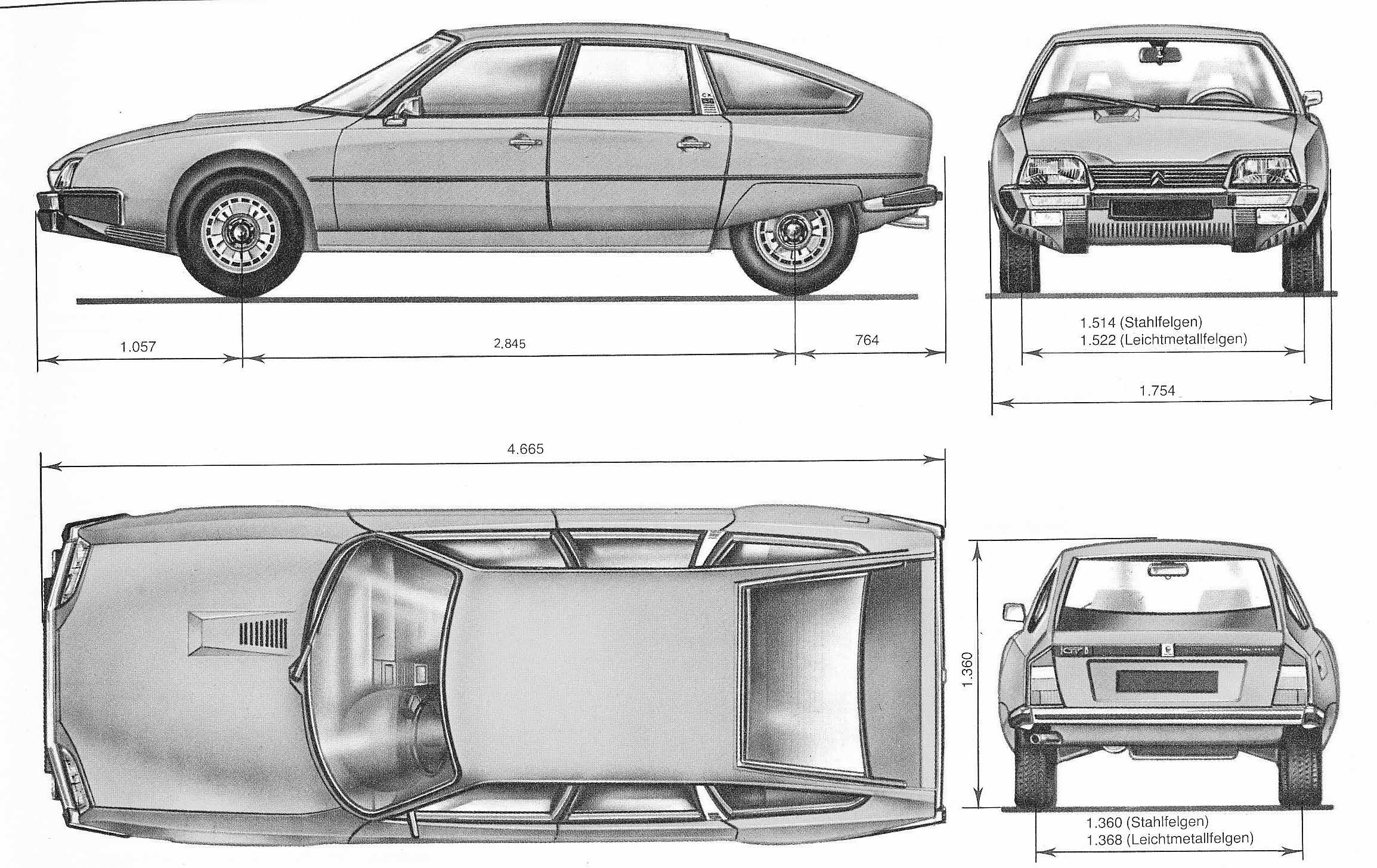 Citroen CX blueprint