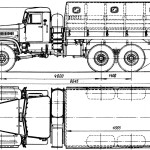 KrAZ-214 blueprint