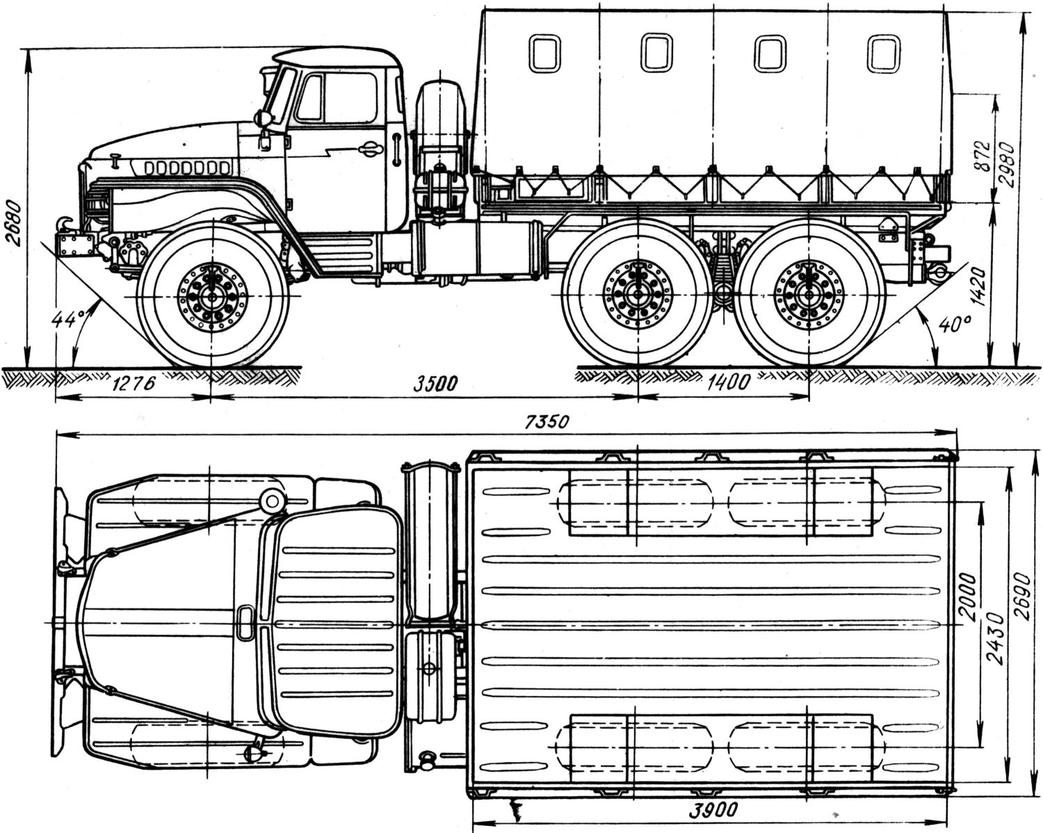 Ural-375D blueprint