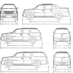 Cadillac Escalade blueprint