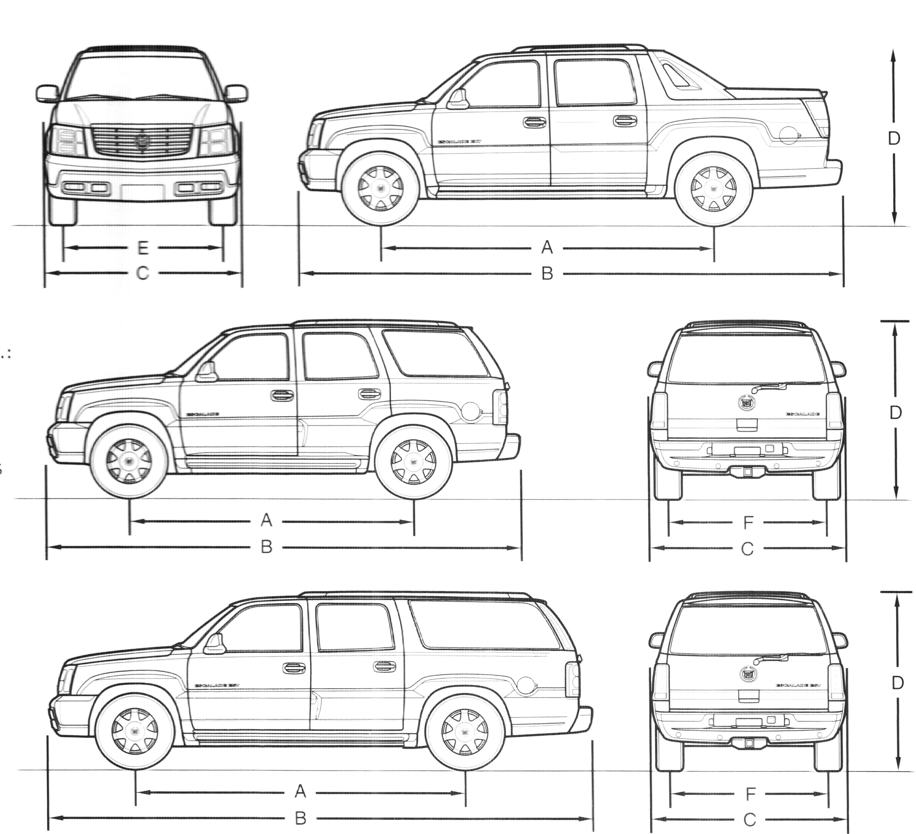 Cadillac Escalade blueprint