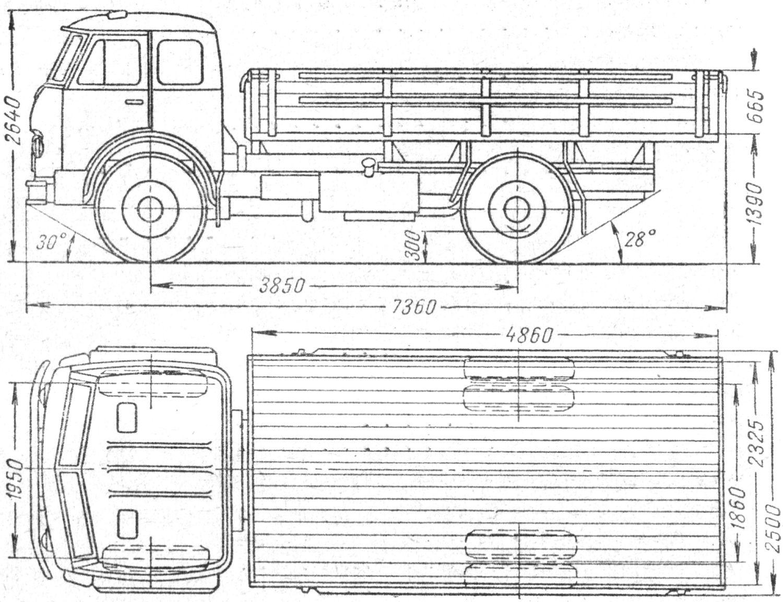 MAZ-500 blueprint