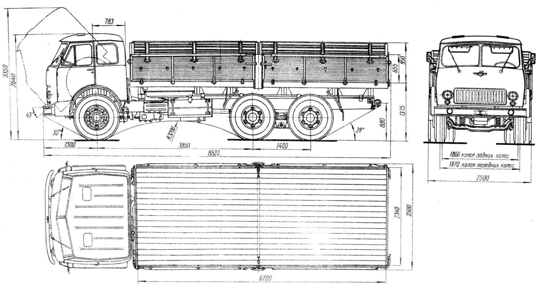 MAZ-514 blueprint