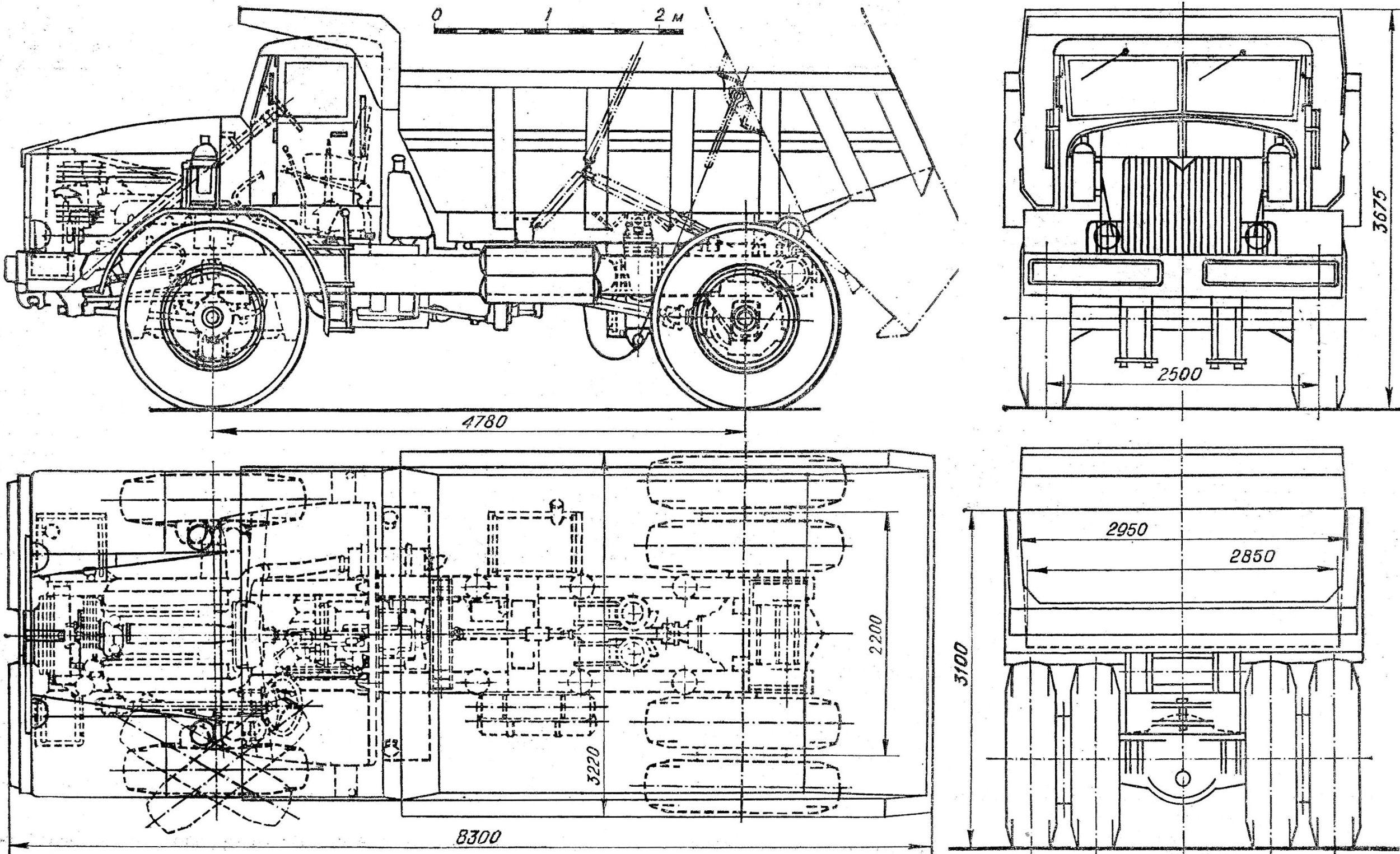 MAZ-525 blueprint