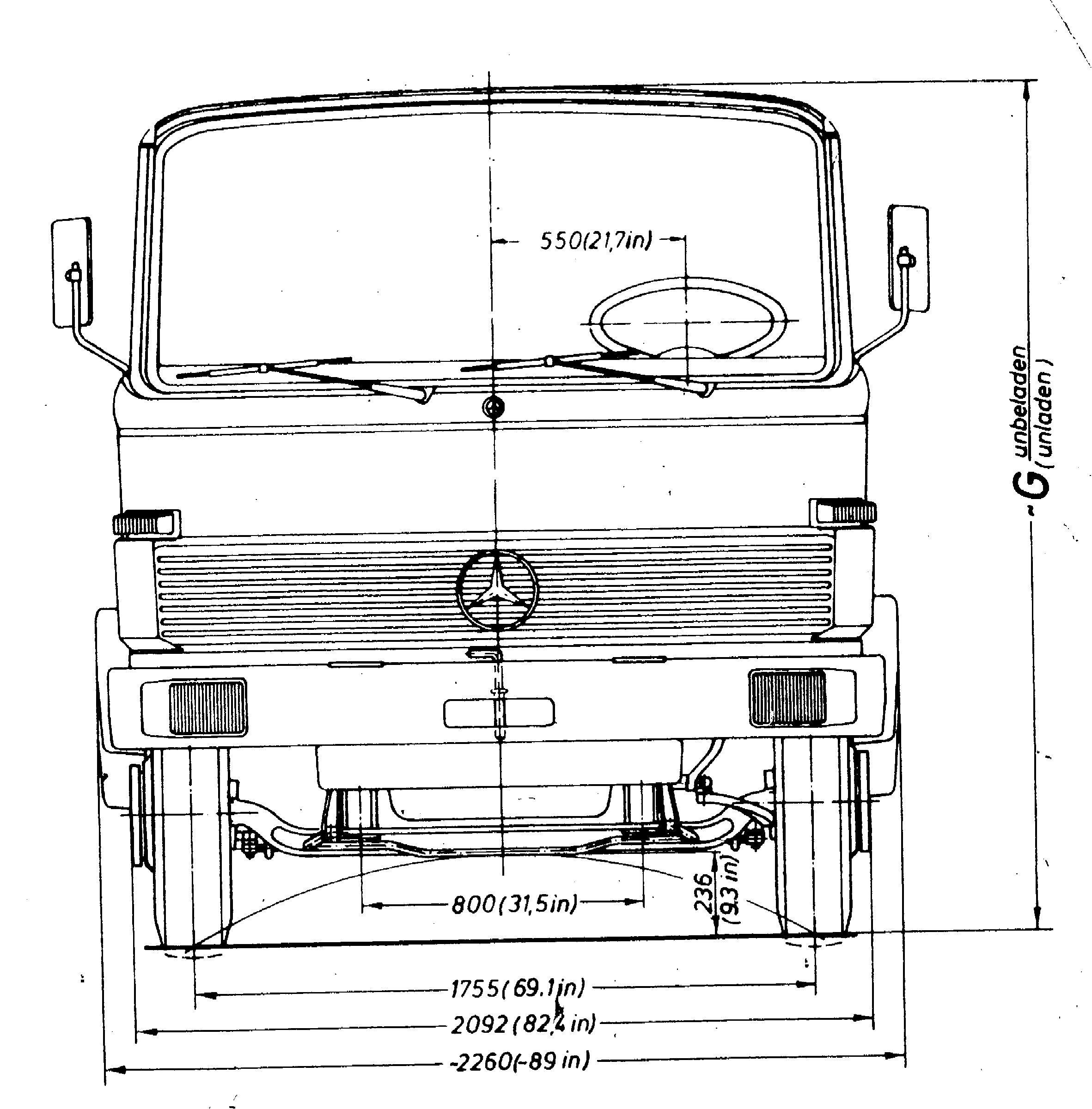 Mercedes-Benz 813 blueprint