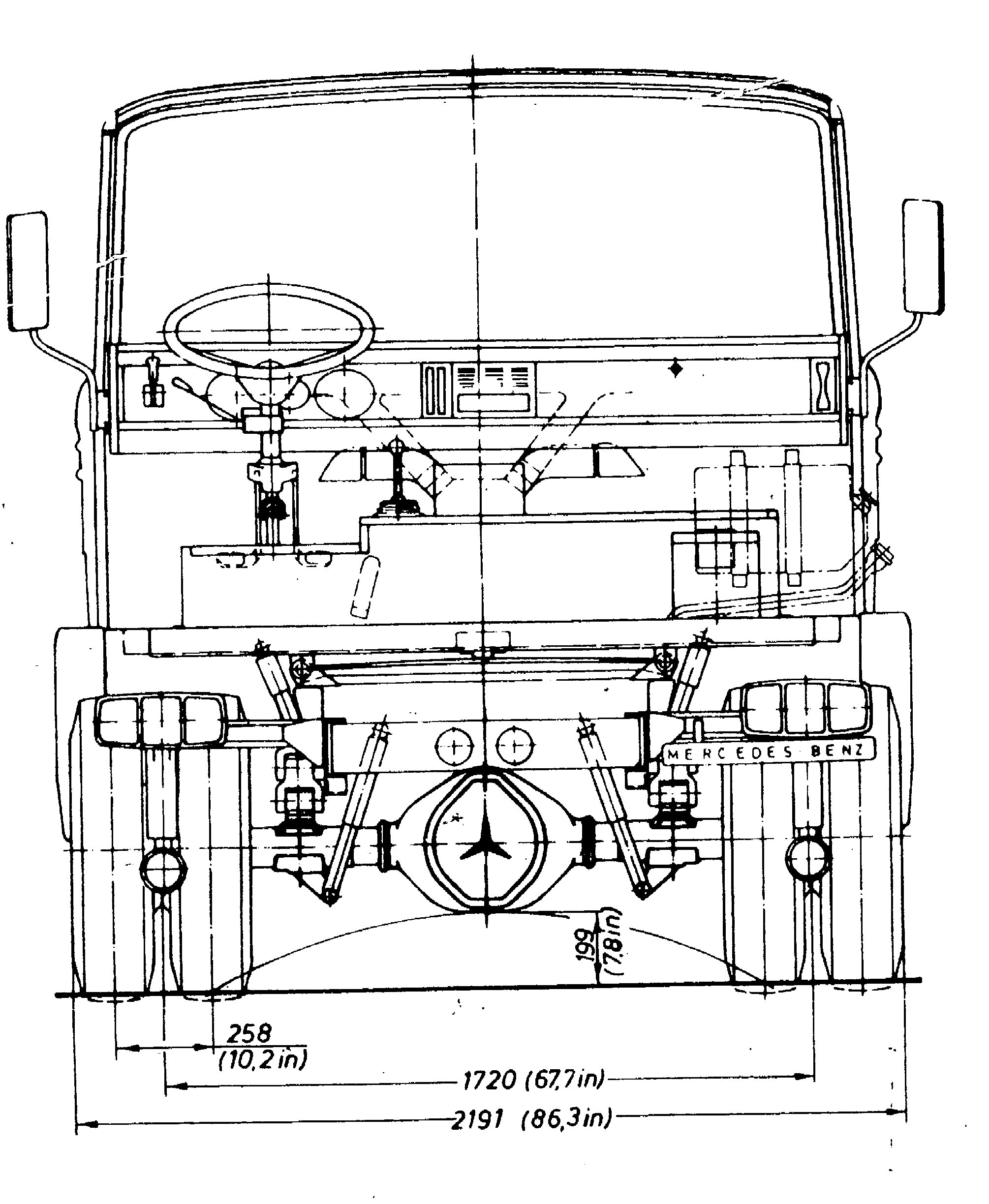 Mercedes-Benz 813 blueprint