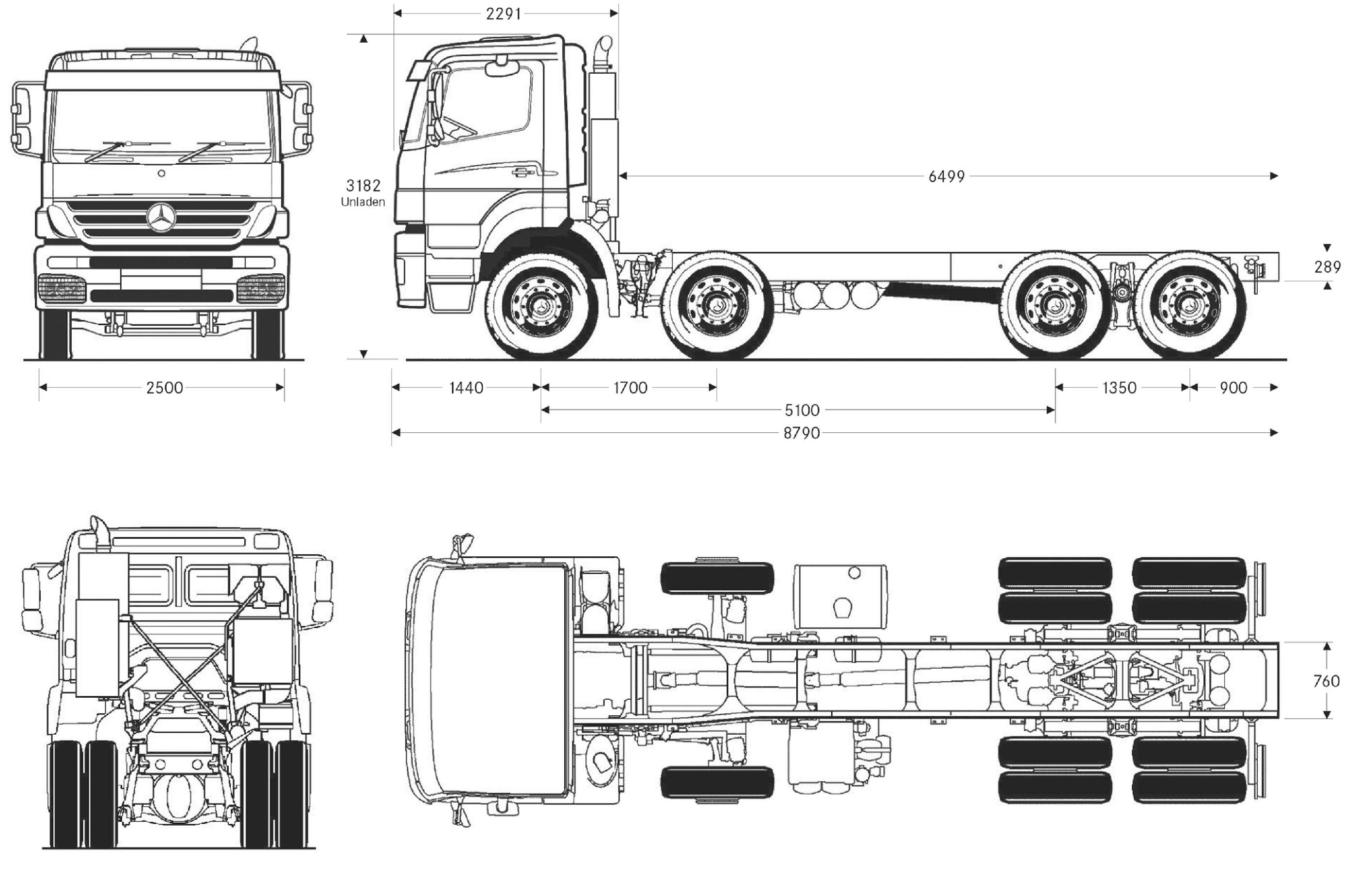 Mercedes-Benz Axor blueprint
