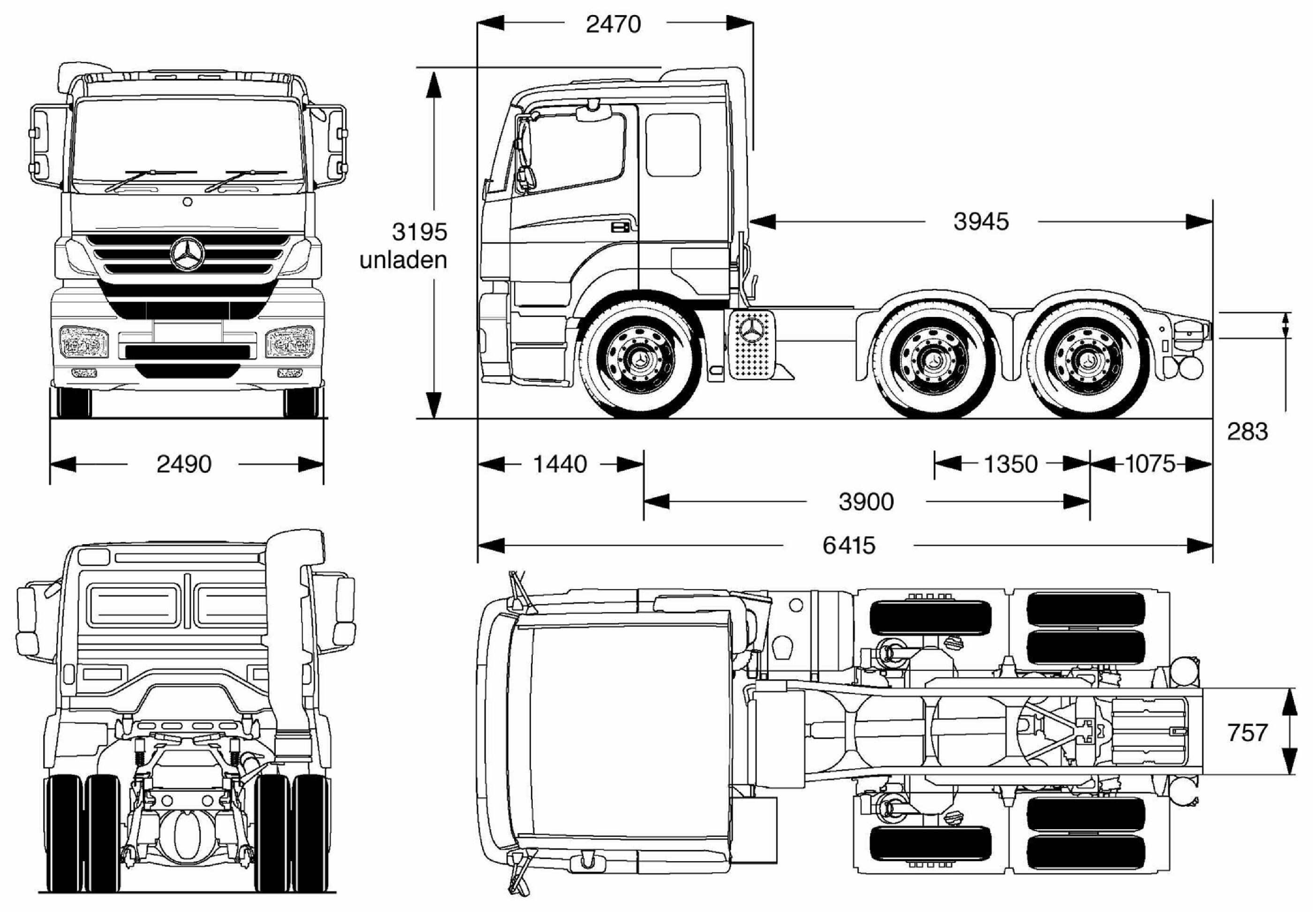 Mercedes-Benz Axor blueprint