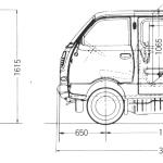 Daihatsu Hijet 550 blueprint