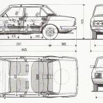 Fiat 132 blueprint