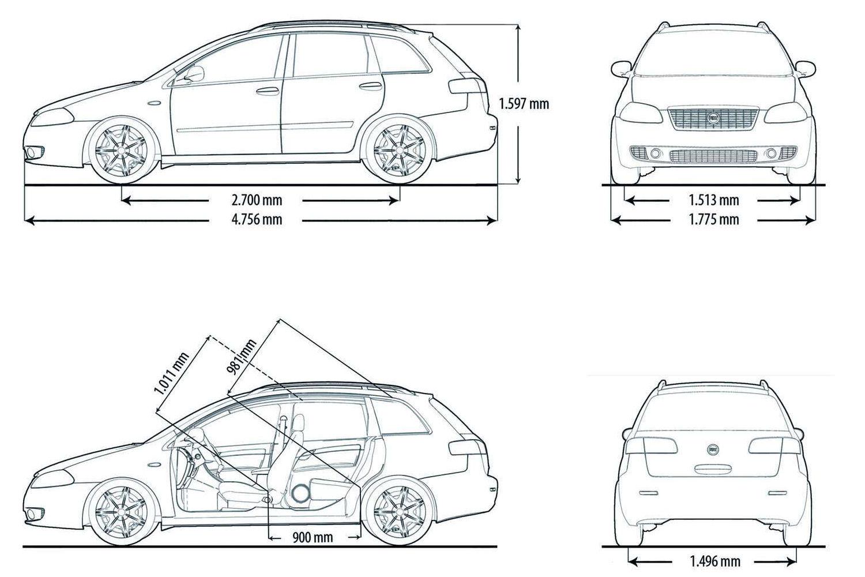Fiat Croma blueprint
