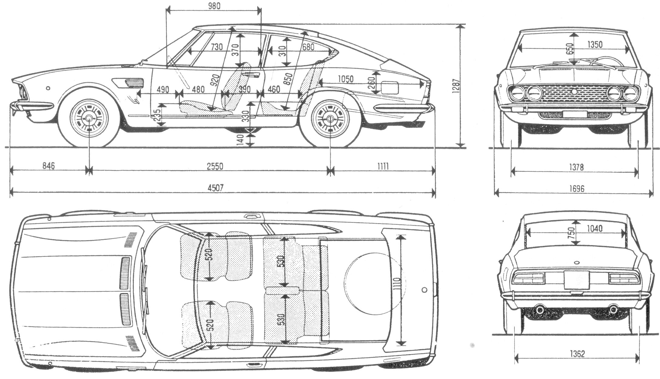 Fiat Dino blueprint