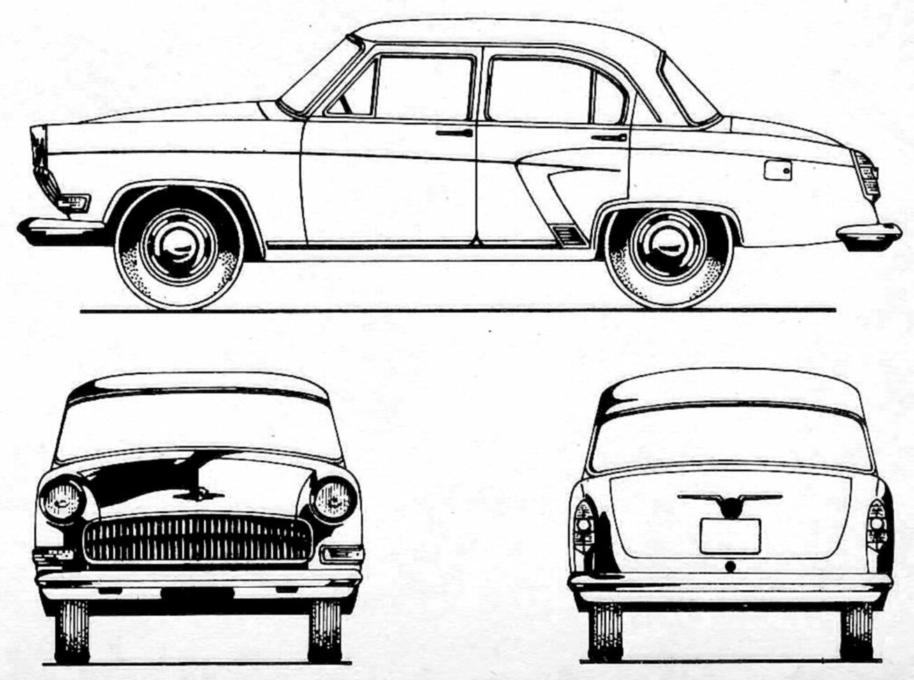 GAZ-21 blueprint