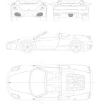 Ferrari F430 blueprint