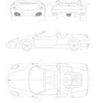 Ferrari F430 blueprint