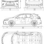 Lexus CT blueprint