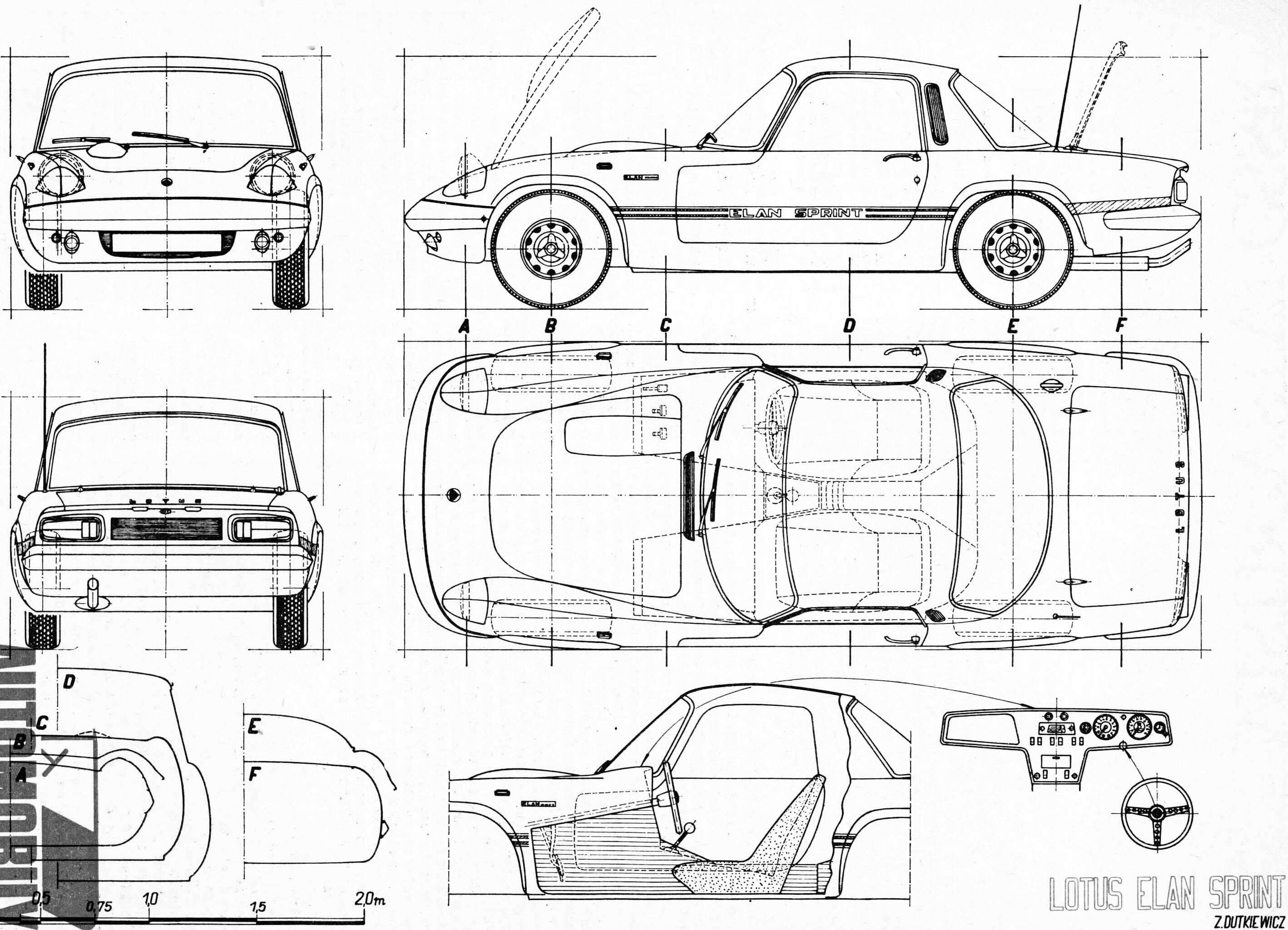 Lotus Elan Sprint blueprint