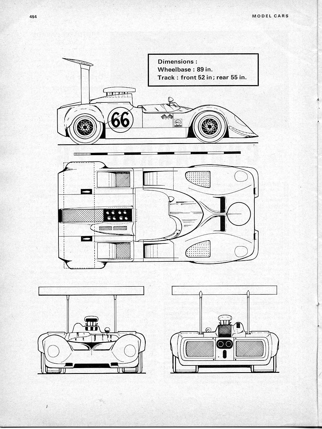 Chaparral 2G blueprint